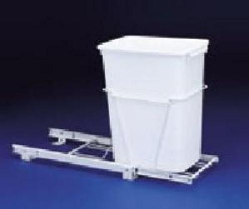 Rev-A-Shelf, RV-12PB-50, 50 Quart Pull-Out Trash Can, White