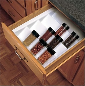 Rev-A-Shelf, ST-2GW-52, Spice Tray, Glossy White