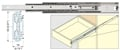 "700mm (27-9/16"") Heavy Duty Stainless Steel Drawer Slide, 53 mm, 155lb."