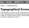 Typographical Errors