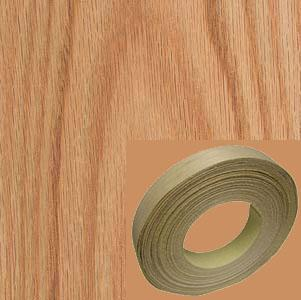 Veneer Tech, EB31X0210153MNB, Edgebanding, Red Oak, PSA Backed, 13/16 in, 50 ft