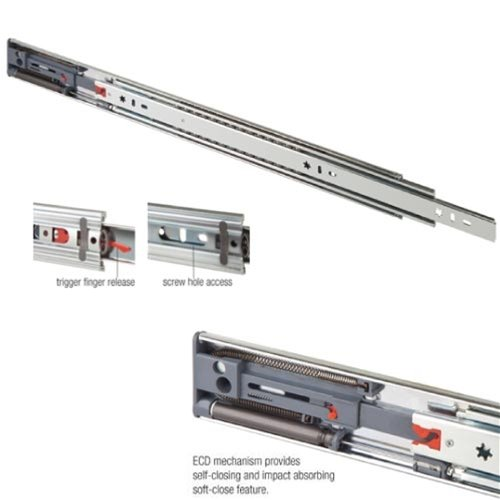"24"" Heavy Duty Drawer Slide, Soft Close, Zinc, FR5210.ECD"