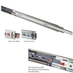 "22"" Heavy Duty Drawer Slide, Soft Close, Zinc, FR5210.ECD"