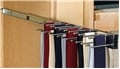 Pull Out Tie Rack, 14 inch, Chrome, holds 25 ties