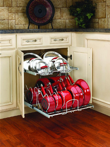 Rev-A-Shelf, 5CW2-2122-CR, 21 in  Cookware Organizer Two-Tier/Chrome