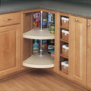 Rev-A-Shelf, 6942-24-15-52, 24 Inch Pie-Cut Lazy Susan, Almond