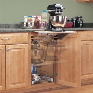 Rev-A-Shelf, RAS-ML-HDCR, Chrome Heavy Duty Mixer/Appliance Lift