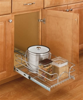 15 Inch Wide X 20 Depth Pull Out Chrome Wire Shelf