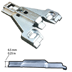 Hettich, 1076538, Intermat Face Frame Mounting Plate 0mm