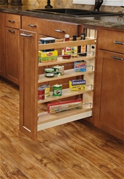 Soft Close Base Cabinet Organizer 8 Inch 4 Tier Pull Out