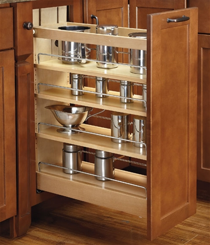 Rev-A-Shelf, 448-BCSC-5C, Base Cabinet Pullout Organizer with Blumotion Soft-Close