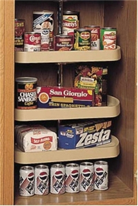 Rev-A-Shelf, 6273-22-15-536, 22 Inch, D-Shape Lazy Susan, 3-Shelf, Almond