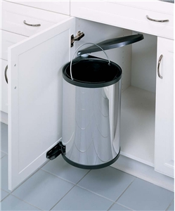 15 Liter Round Pivot-Out Container, Stainless Steel