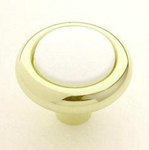 Berenson, 6999-188-C, Cabinet Knob, Miami-Manhattan, Gold and White