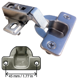 Concealed Cabinet Hinge 1 2 Inch Overlay W 8mm Dowel