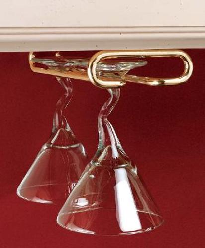 Rev-A-Shelf, 3150-16BR, 16 inch Stemware Rack Brass Plate