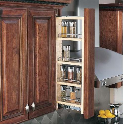 Rev-A-Shelf, 432-WF-3C, 3 inch Wall Cabinet Filler Organizer