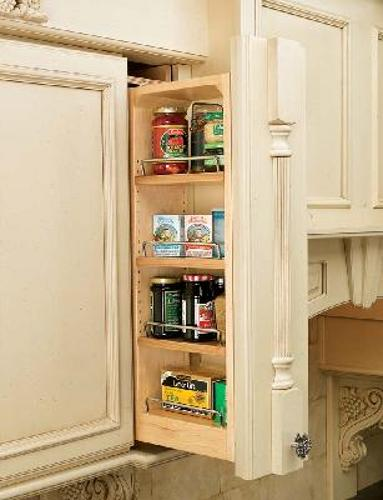 Rev-A-Shelf, 432-WF-6C, 6 inch Wall Cabinet Filler Organizer