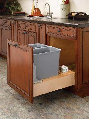 Rev-A-Shelf, 4WCBM-2430DM-2, Rev-A-Motion Double 30 Qt. Trash Can