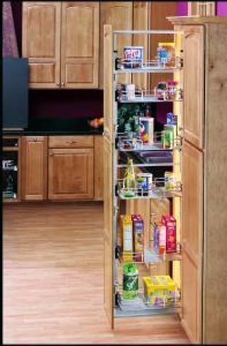 15 Quot Full Extension Pull Out Pantry System Chrome 5258 14 Cr