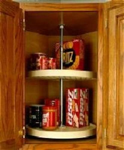 Rev-A-Shelf, 6012-24-15-52, 24 Inch Full Circle Lazy Susan, 2-Shelf,  Almond