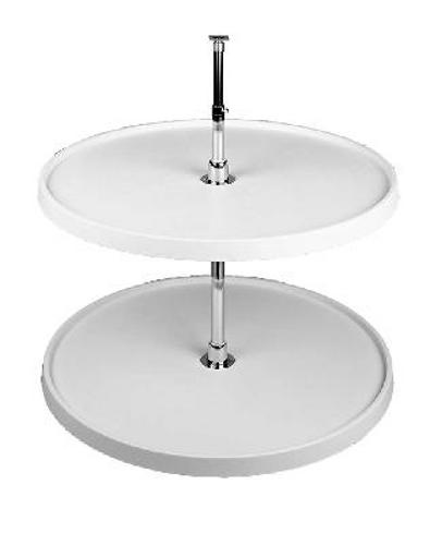 Rev-A-Shelf, 6072-16-15-52, 16 Inch Full Circle Lazy Susan, 2 Shelf Set, Alm
