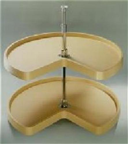 Rev-A-Shelf, 6472-18-15-52, 18 Inch Diameter Kidney Shelf Set,  Almond (450mm)
