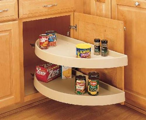 Rev-A-Shelf, 6882-33-11-570, Half-Moon Shelf Set, 2 Shelf Pivot & Slide, White