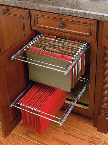 Rev-A-Shelf, RAS-FD-KIT, Two-Tier File Drawer System with F/E slides