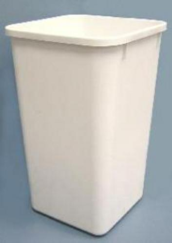 Rev-A-Shelf, RV-1024W-52, Replacement Trash Can, 27 Quart, White