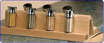 Rev-A-Shelf, 448-SR8-1, Wood Spice Rack Insert for 448-BC-8C
